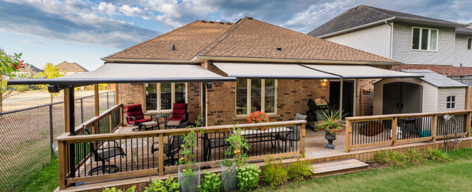 dual retractable awnings in grimsby